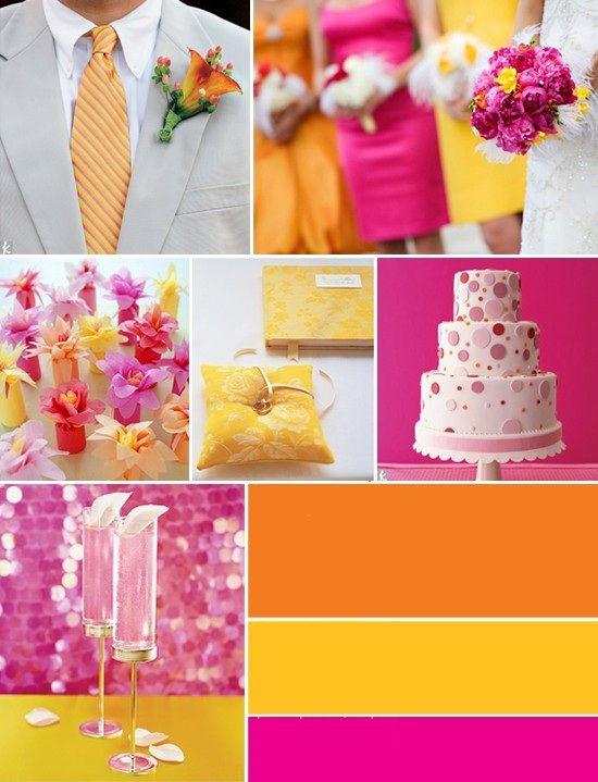 Geel-roze-oranje
